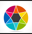 creative colorful star info-graphics design vector image