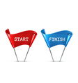 Start and Finish vector image
