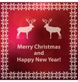 Christmas and new year red greeting card vector image
