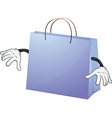 A blue bag vector image