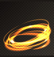 abstract lights circles transparent fire rings vector image vector image