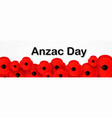 anzac day remembrance web header poppies vector image