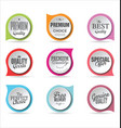 badges collection 2 vector image vector image