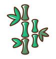 bamboo icon cartoon style vector image vector image