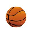 basketball balloon sport icon vector image vector image