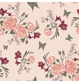 Beautiful Seamless Background with Victorian Roses vector image vector image