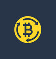 bitcoin exchange icon sign vector image vector image