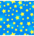 bright starry seamless pattern vector image