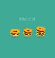 burgers friends vector image vector image
