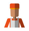 chef or cook with apron avatar icon image vector image