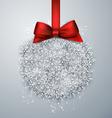Christmas ball light background vector image vector image