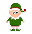 christmas elf cartoon character vector image