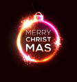 christmas neon sign bright vector image