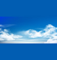 cloud in blue sky fluffy clouds in cloudy daytime vector image vector image