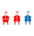 collection of christmas santa claus st vector image vector image