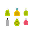 dispenser icon set flat style vector image vector image