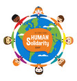 diverse people around world for solidarity day vector image