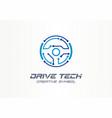 drive tech creative symbol concept autonomous car vector image vector image