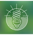 energy saving spiral eco lamp fluorescent light vector image