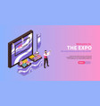 expo product presentation banner vector image vector image