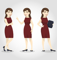 female character asian business woman vector image vector image