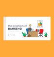 financial profession banking work occupation vector image vector image