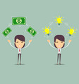 flat design of exchange business ideas and money vector image vector image