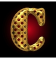 golden and red letter c vector image vector image