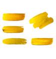 golden brush stroke brush line or texture vector image vector image