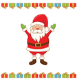 greeting card with cartoon Santa Claus vector image