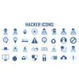 hacker icon cyber spy vector image vector image