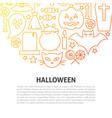 halloween line concept vector image vector image