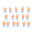 hands and numbers vector image vector image