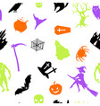 happy halloween seamless pattern with celebration vector image vector image