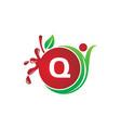 health fruit juice initial q vector image vector image