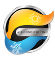 heating and cooling arrows symbol for air vector image vector image