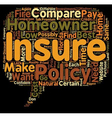 How To Compare Low Cost Homeowner s Insurance In vector image vector image