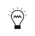 Lightbulb idea vector image vector image
