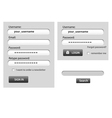 Login - webdesign elements vector image