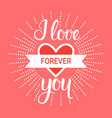 love hand drawn calligraphy for valentine day vector image