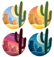 mexican desert vector image vector image