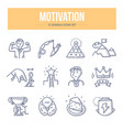 motivation doodle icons vector image