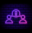 neon light group line icon users or teamwork sign vector image vector image