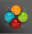 one two three four - progress icons for four steps vector image vector image
