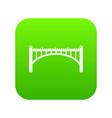 road arch bridge icon green vector image vector image
