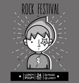rock festival concert music event vector image vector image