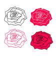 rose icon symbol isolated on the white background vector image