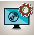 screen gear system symbol vector image