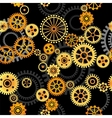 seamless background - gears vector image vector image