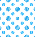 Seamless Blue Dots Pattern on white Background vector image vector image